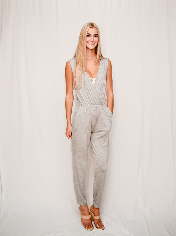 EASY PEASY JUMPSUIT - GRAY