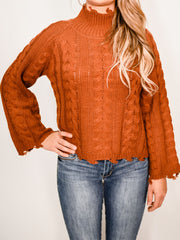BY THE FIRE RUST SWEATER