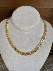 BB LILA:  GOLD CHUNKY MONKEY NECKLACE