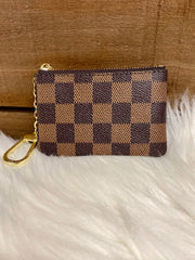 CHECKERED KEY POUCH - ASSORTED COLORS