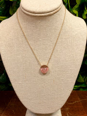 FULL STOP NECKLACE - BLUSH