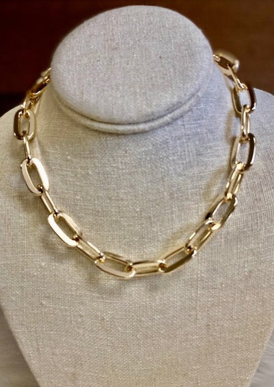 KENDRA GOLD LINK NECKLACE