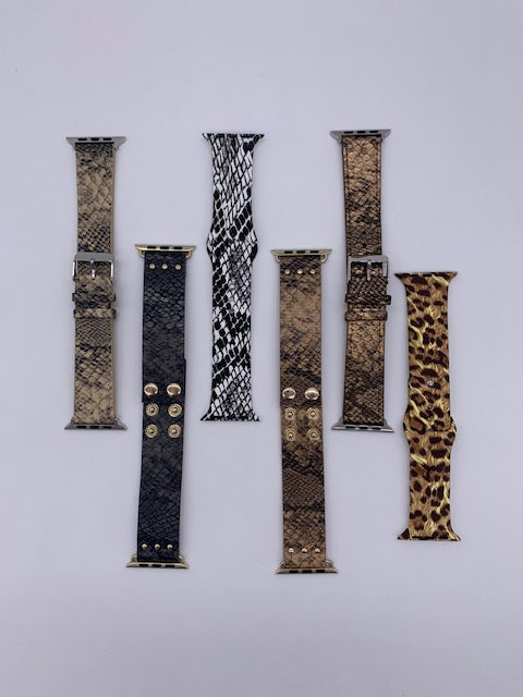 38 MM ANIMAL PRINT SMART WATCH BANDS