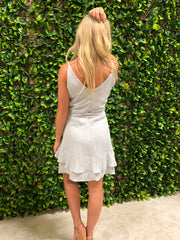 SUMMER NIGHTS RUFFLE DRESS