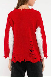 THAT'S AMORE FRAYED SWEATER