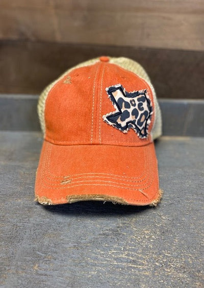 ORANGE LEOPARD TEXAS CAP