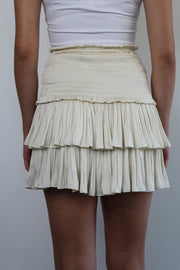 AMORE SILK CREAM SKIRT