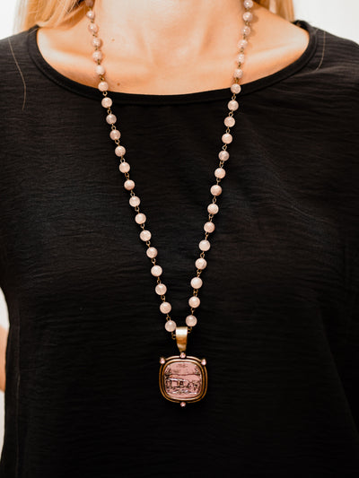 MC JADE AUTUMN ROSE NECKLACE