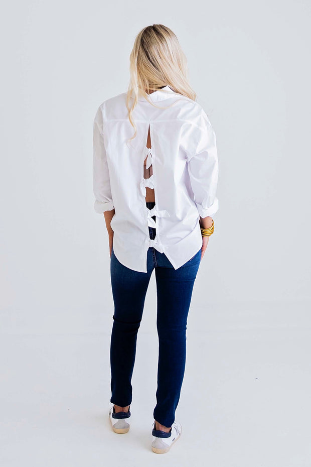 KARLIE:  BREEZE BY KNOT BACK BLOUSE - ONLINE EXCLUSIVE