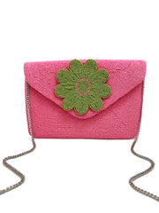 LAS PALMAS BEADED CLUTCH - PINK