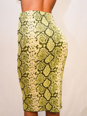 SQUEEZE OF LIME SNAKE SWEATER SKIRT