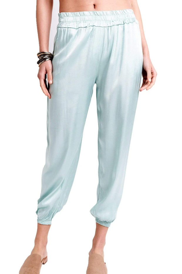 BROOK SILK PANTS - WHITE