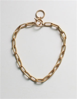 BOUND IN CHAINS TOGGLE NECKLACE - GOLD & SILVER