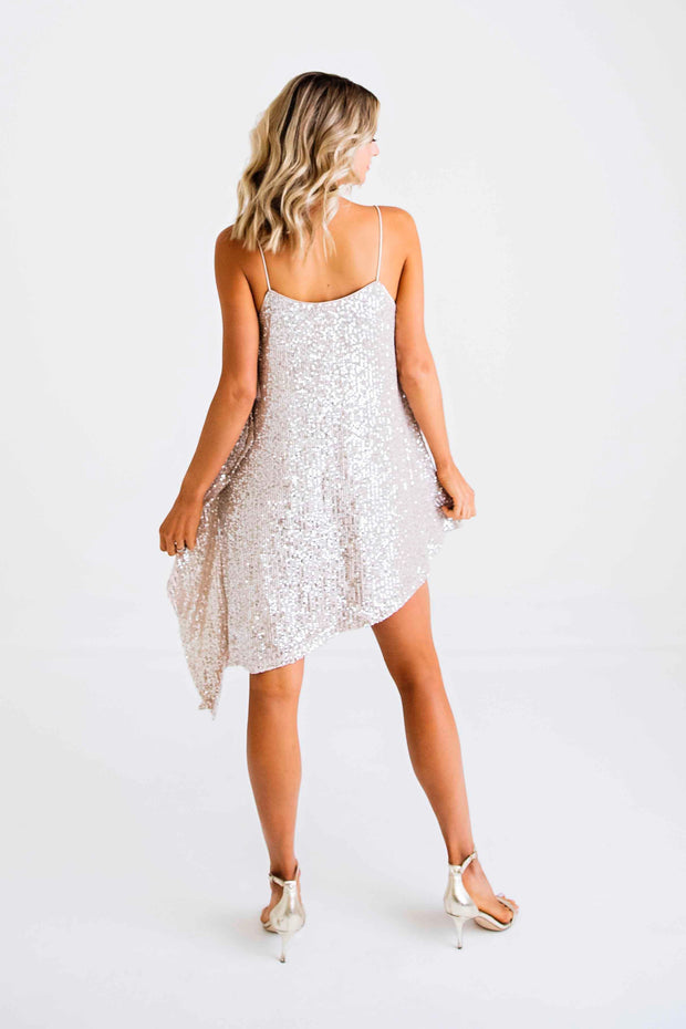 KARLIE: LIGHT UP THE NIGHT SEQUIN CAMI DRESS