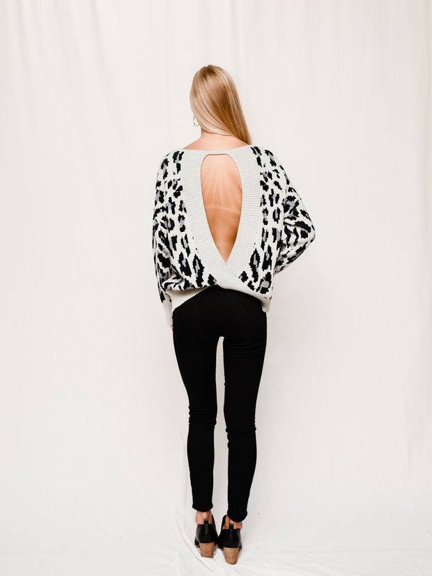 OPEN SEASON LEOPARD SWEATER