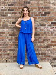 SUMMER EVENINGS SILK JUMPSUIT