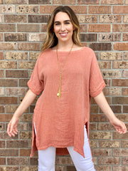 SPRING AND SASSY LINEN TUNIC