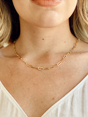 GOLD LITTLE LINK NECKLACE