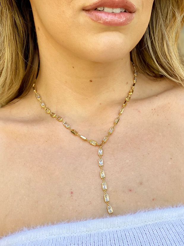 TYBEE LARIAT GOLD NECKLACE