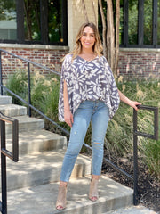 FALL BLOOMS KAFTAN BLOUSE