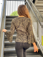 FIERCE LOVE WRAP BLOUSE