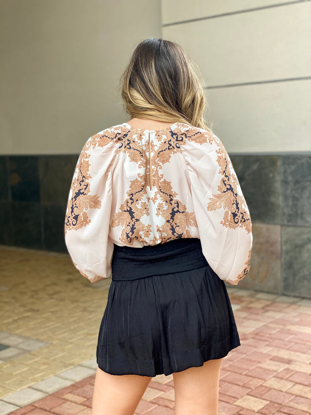 CAMBRIDGE DAYS PRINTED BLOUSE