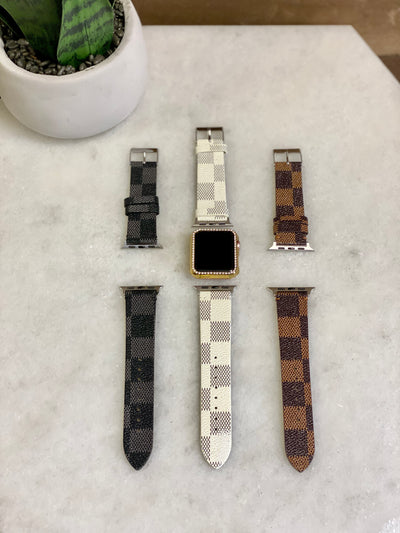 CHECKERED APPLE WATCH BAND - 42/44