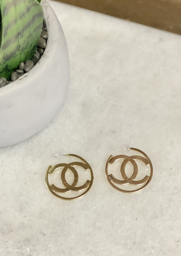 COSMOS CALLING HOOP EARRINGS - GOLD