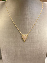 MY WHOLE HEART PAVE NECKLACE