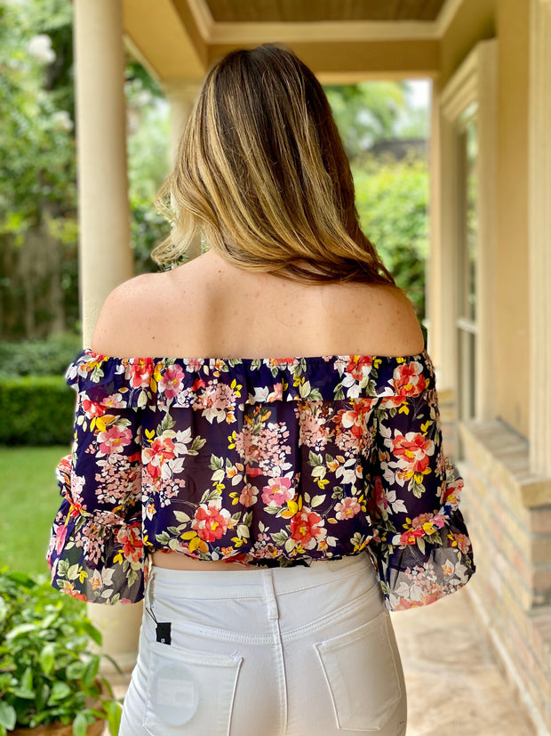 MODERN FLORALS CROP TOP