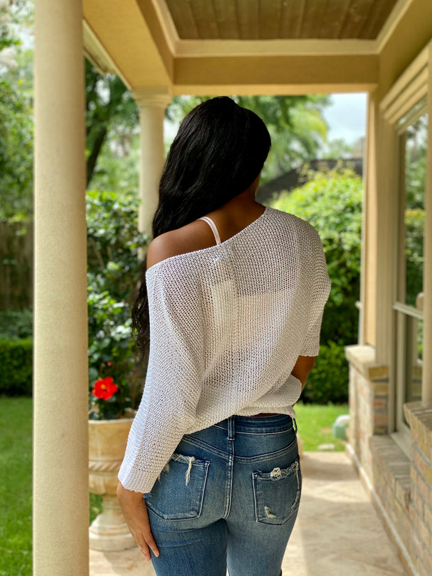 CROCHETED OVERSIZED SWEATER:  ONE SIZE FITS ALL