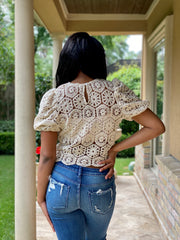 SURE THING CROCHET TOP