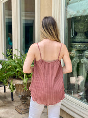 HIDE AND SEQUIN CAMI TOP