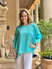 OH SO TRACIE:  SATIN BOATNECK BLOUSE
