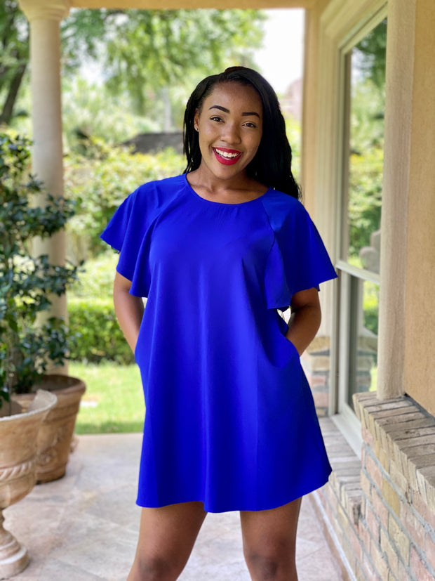 HERE'S TO YOU ROYAL BLUE DRESS