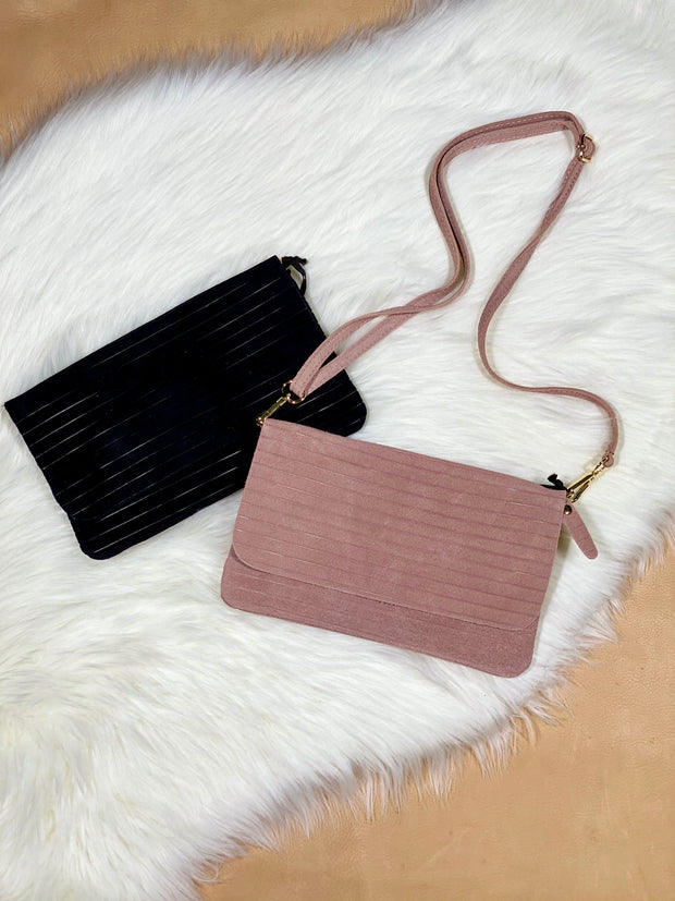 MINI SALLY RIGATO ITALIAN SUEDE PURSE