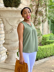 INSTANTLY CLASSIC TOP - OLIVE