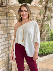 BRING THE FUN OFF THE SHOULDER TOP - OFF WHITE