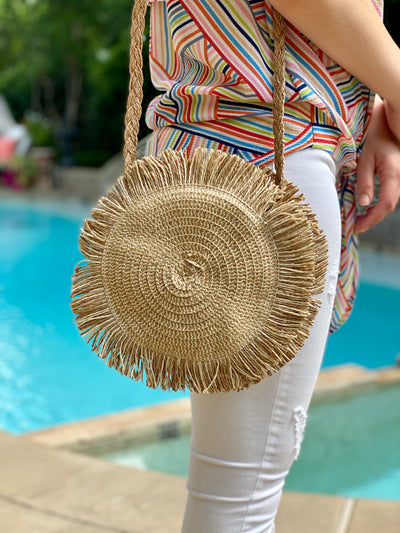 STROLL WITH YOU STRAW BAG