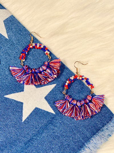 RED WHITE & YOU EARRINGS