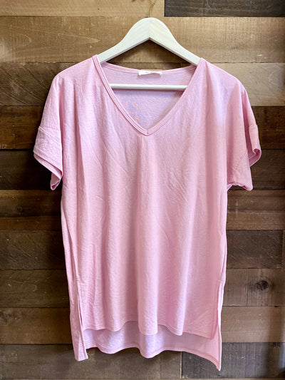 BEYOND YOUR BASIC V-NECK TEE