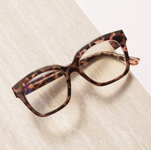 DIFF: AVA BLUE LIGHT READER - BEIGE TORTOISE