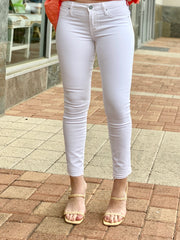 ARTICLES OF SOCIETY WHITE CROP SKINNY JEANS