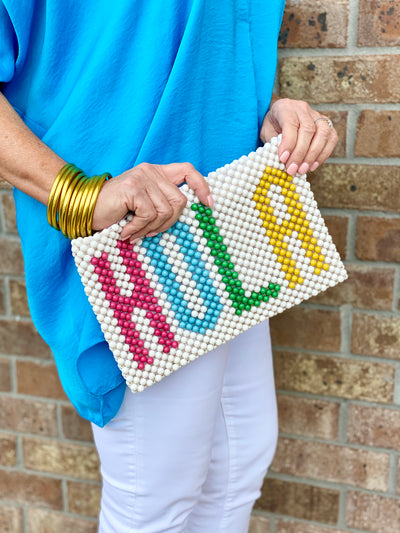 HOLA BEADED CLUTCH