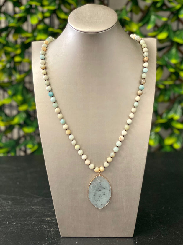 LANEY LIGHT AMAZONITE NECKLACE