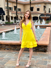 CHRISTEL DRESS - YELLOW