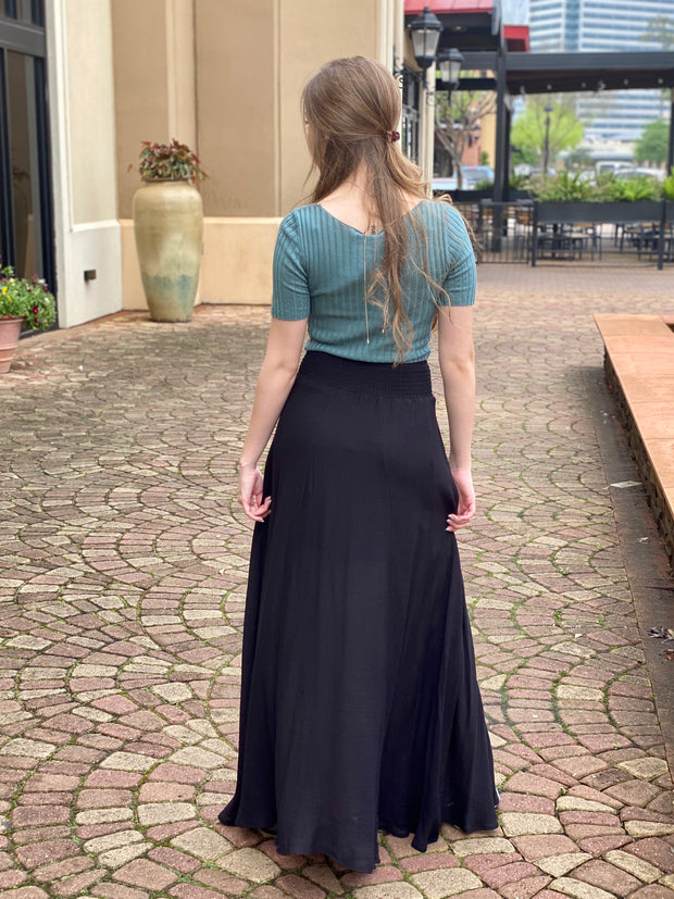 DESIRE TO INSPIRE MAXI SKIRT - BLACK