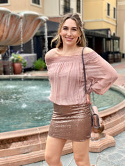HIDE AND SEQUIN SKIRT