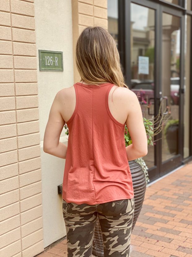 CAMO HIGH RISE SKINNY ANKLE JEAN