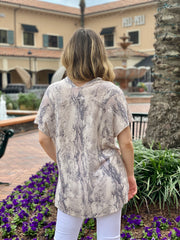 JUST ASK GREY SNAKE TUNIC